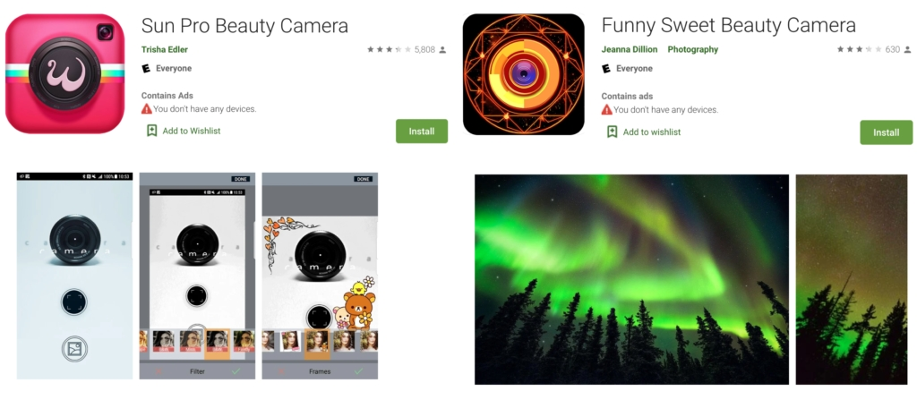 duas apps maliciosas