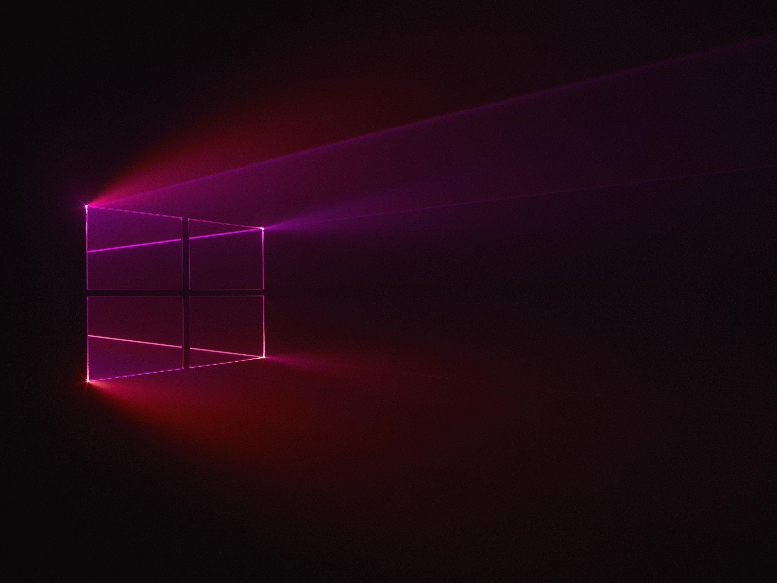 Windows 10 red wallpaper