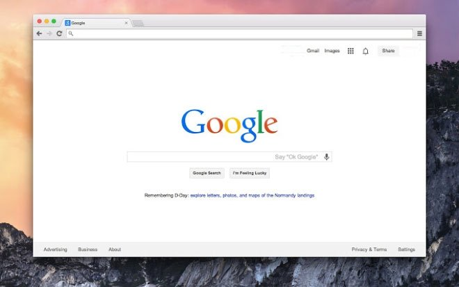 Google chrome em sistemas mac