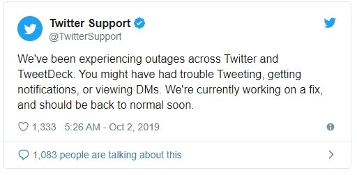 erros no tweetdeck