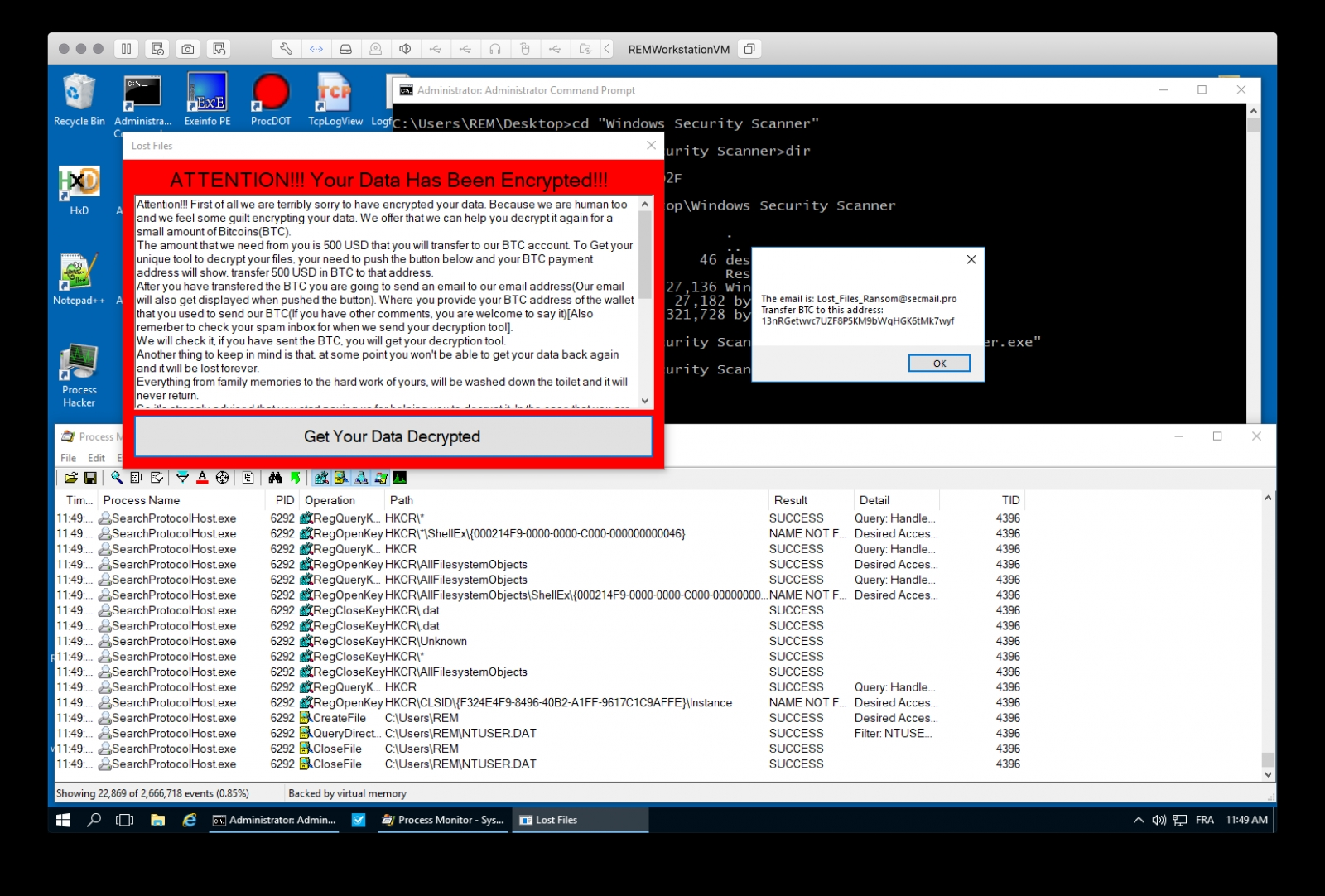 exemplo bloqueio ransomware