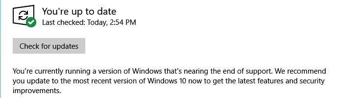 imagem notificação atualizar windows 10