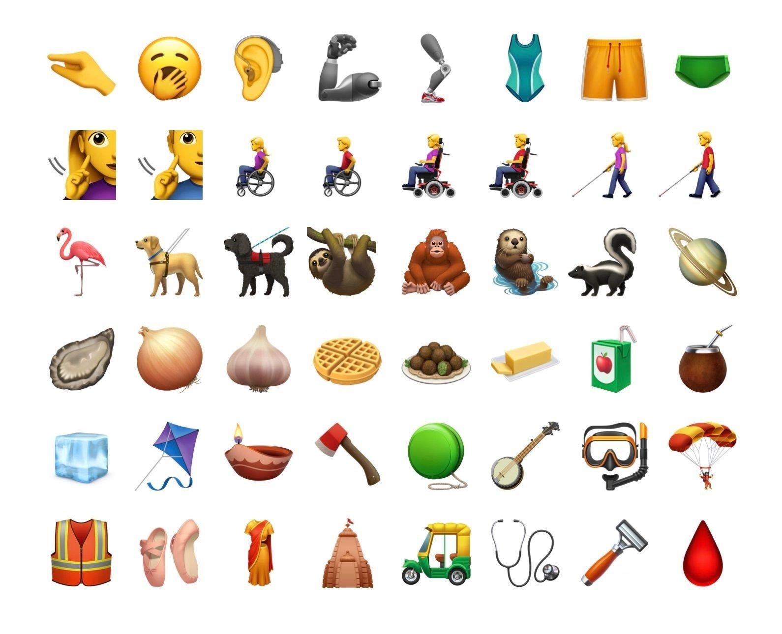novos emojis versão beta ios 13