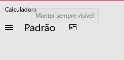 botão calculadora windows 10