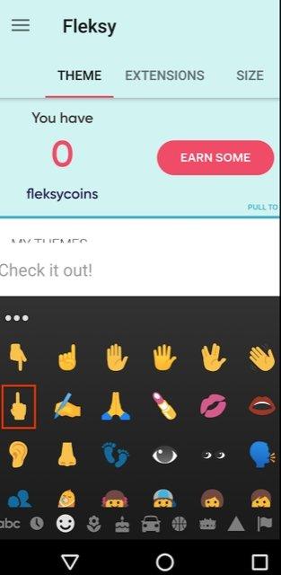 imagem emoji dedo do meio