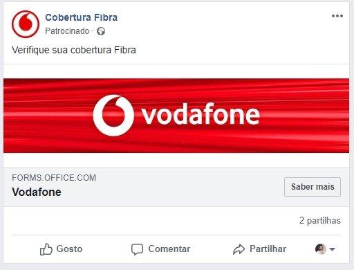 imagem publicidade facebook vodafone