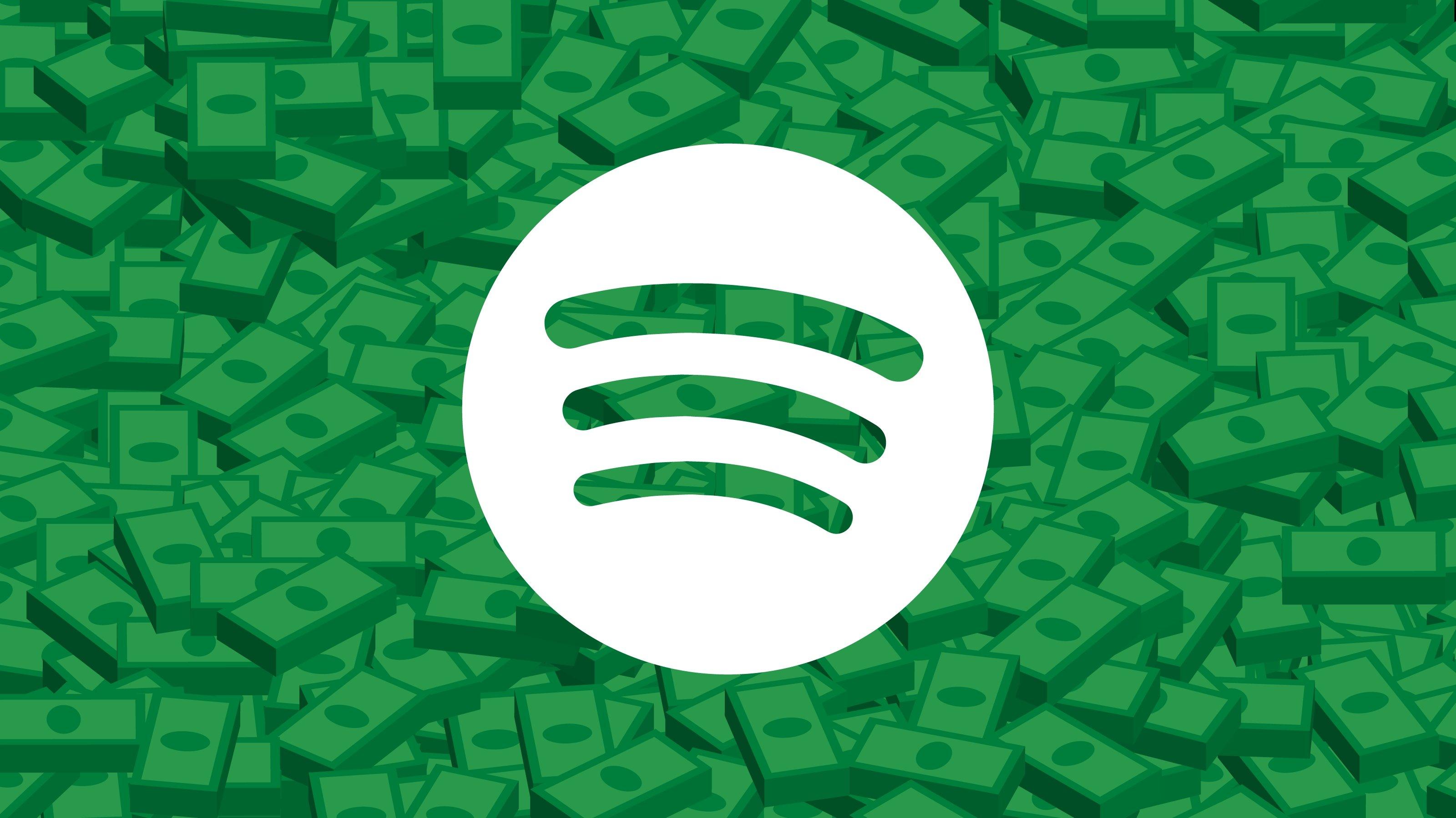Spotify logo dinheiro