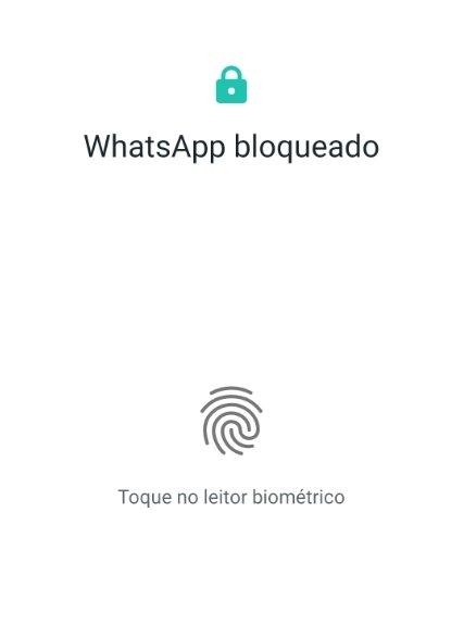 bloqueio por impressão digital whatsapp