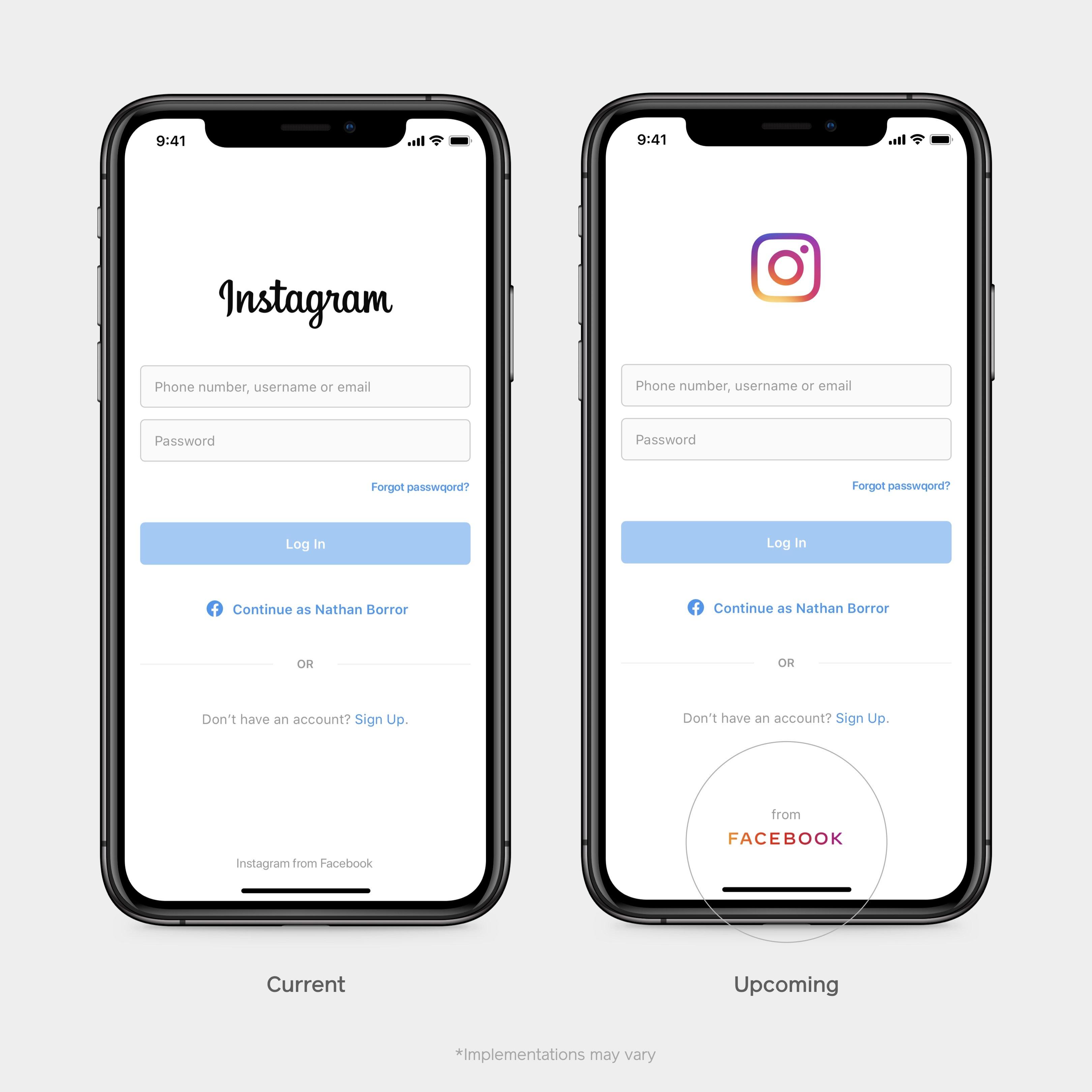 novo logo facebook