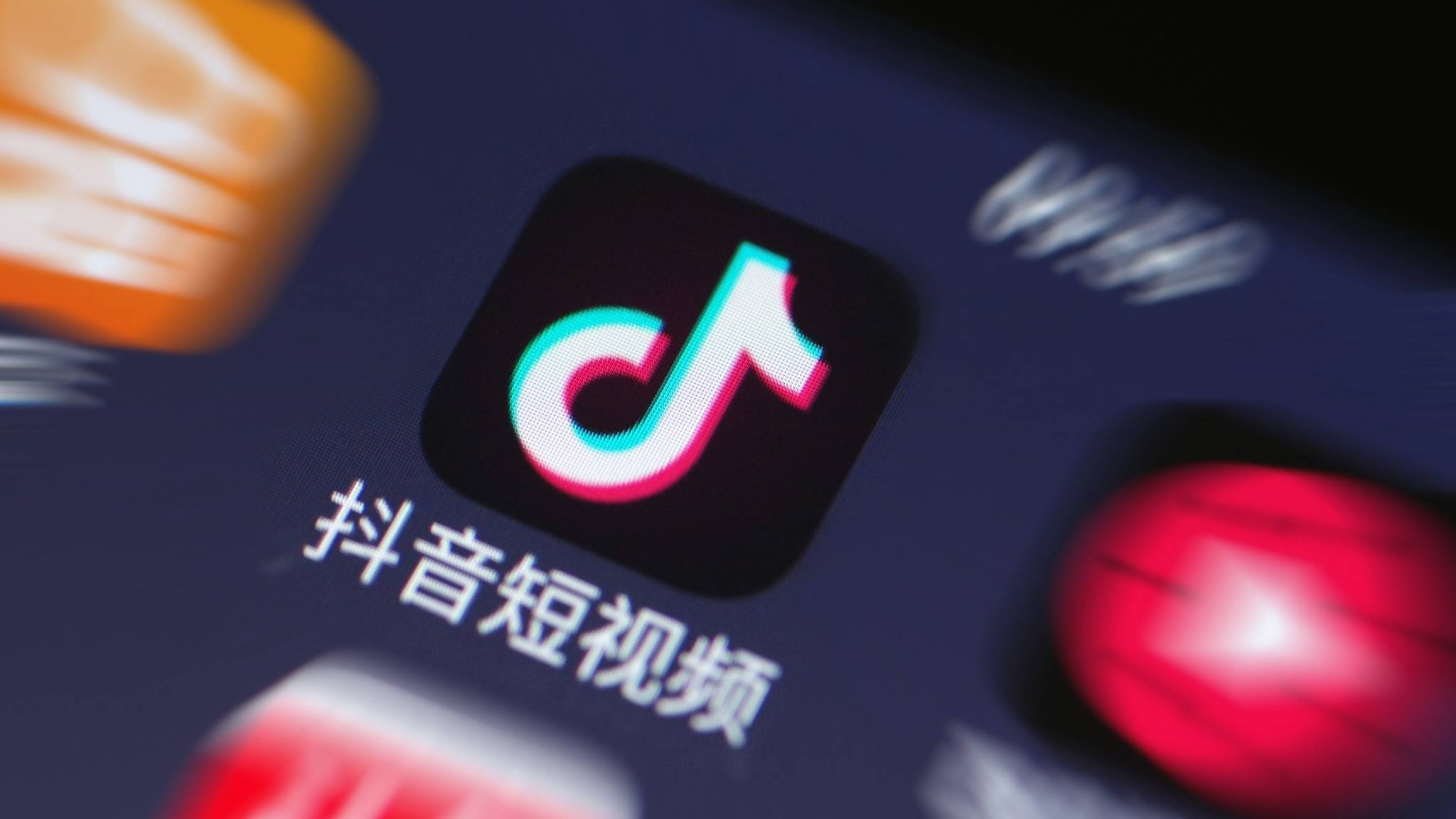 TikTok app icone smartphone