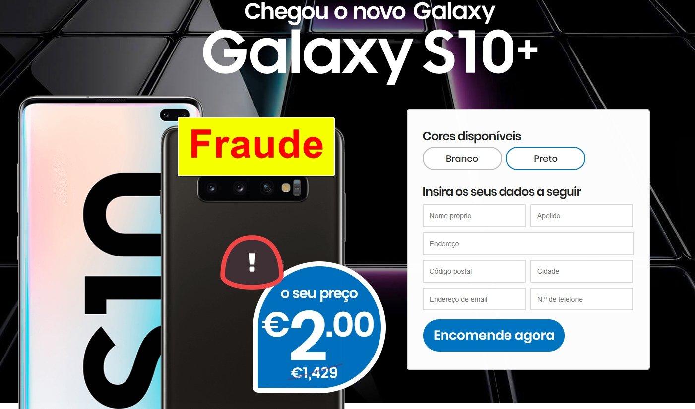 Samsung galaxy s10 a 2 euros