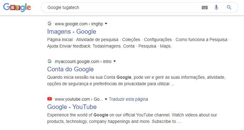 google nova pesquisa
