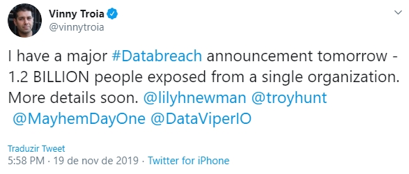 falha dados 1.2 mil milhões registo