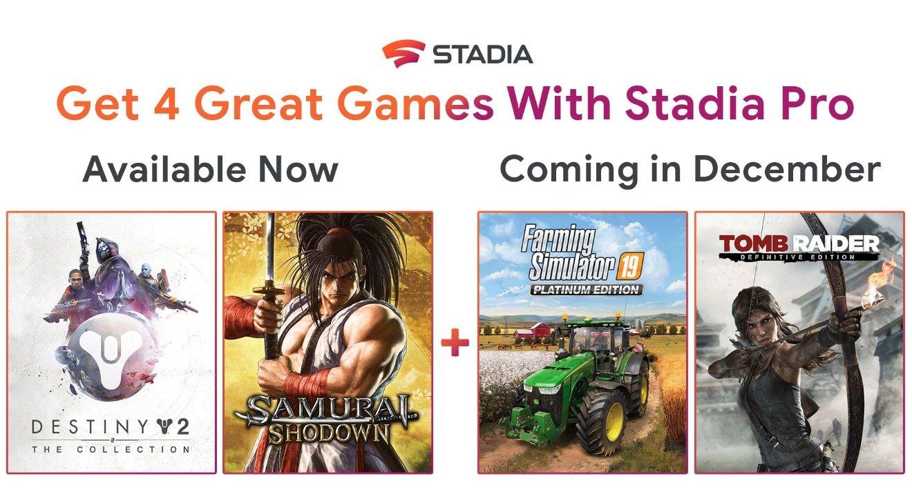 google stadia jogos grátis