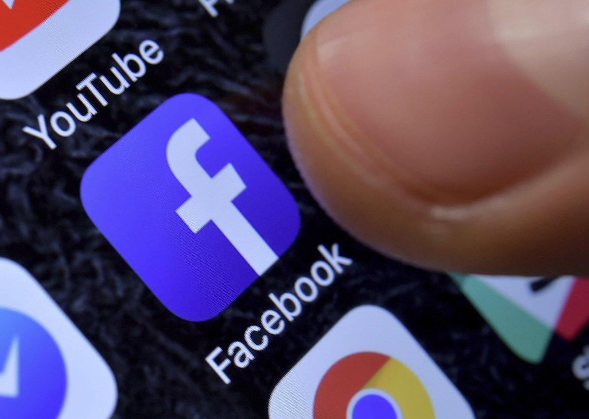 facebook aplicação smartphone