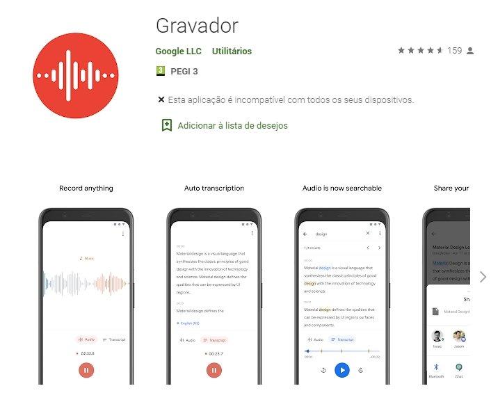 app gravação google