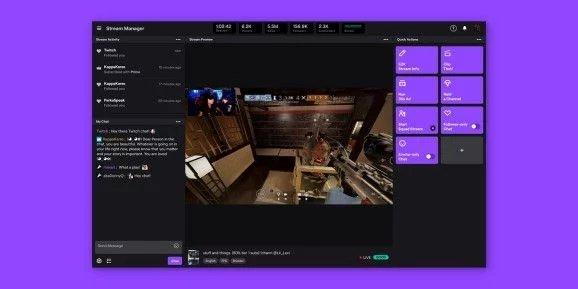 novo painel twitch