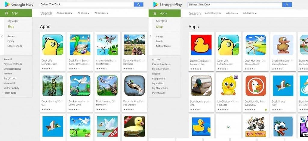 google play Store pesquisa