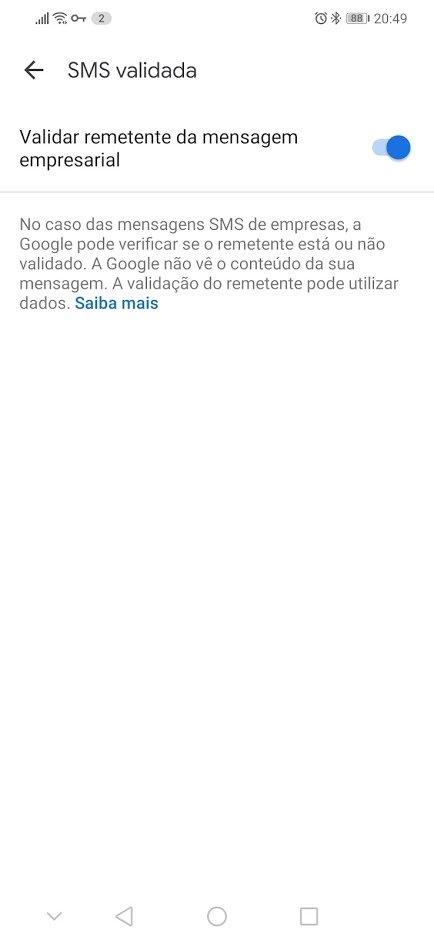 validação SMS portugal