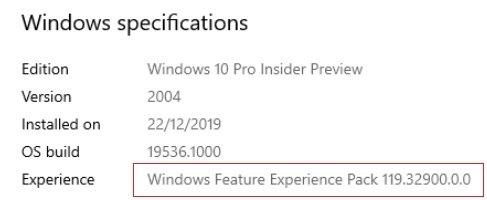 novo pacote Microsoft windows 10