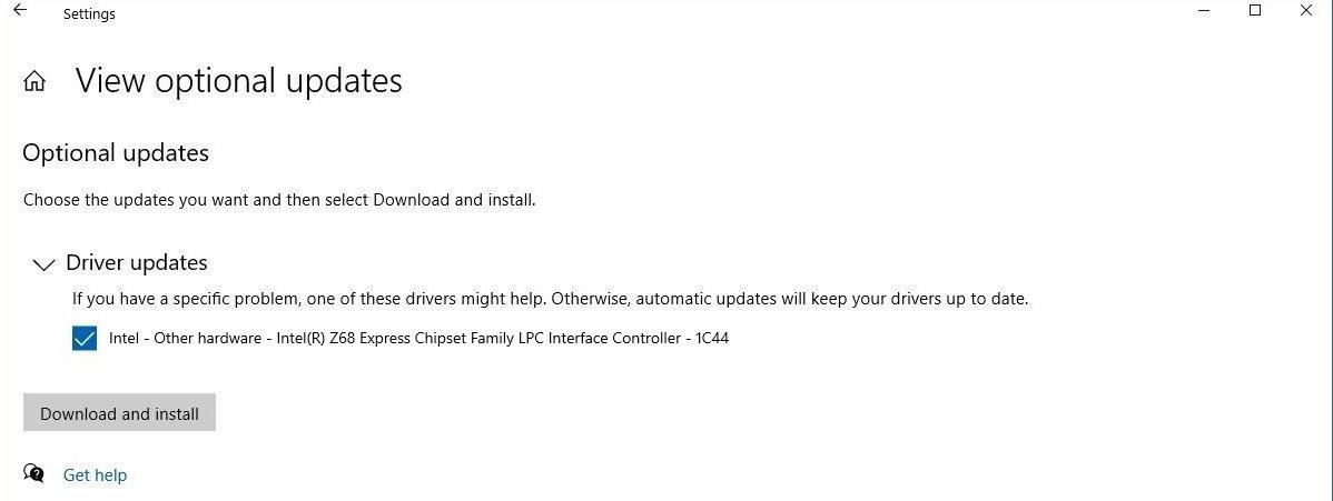 windows 10 atualização drivers