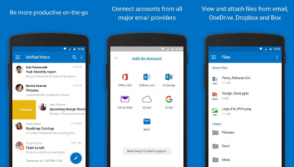 outlook android play store