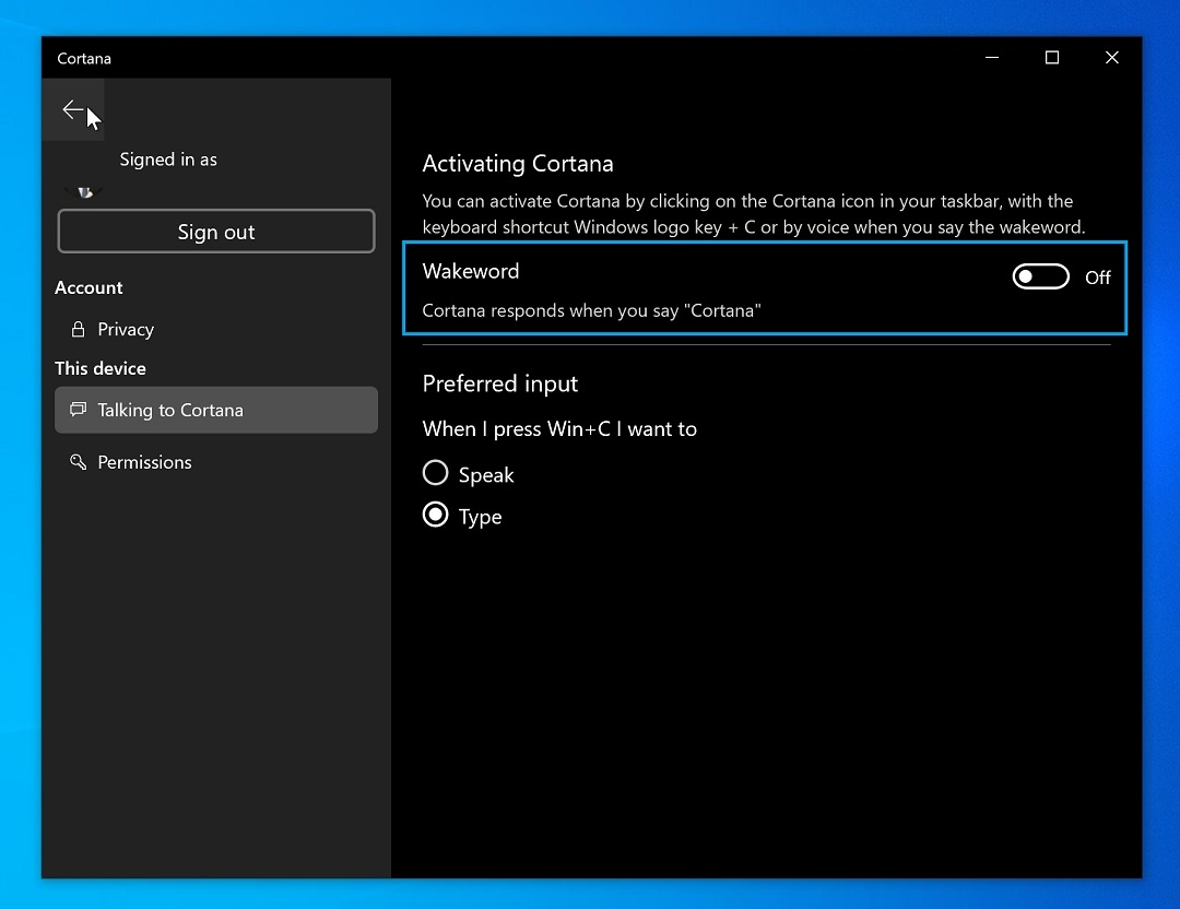 cortana windows 10 beta