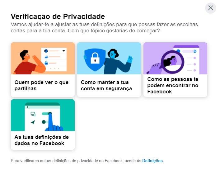 facebook verificação privacidade