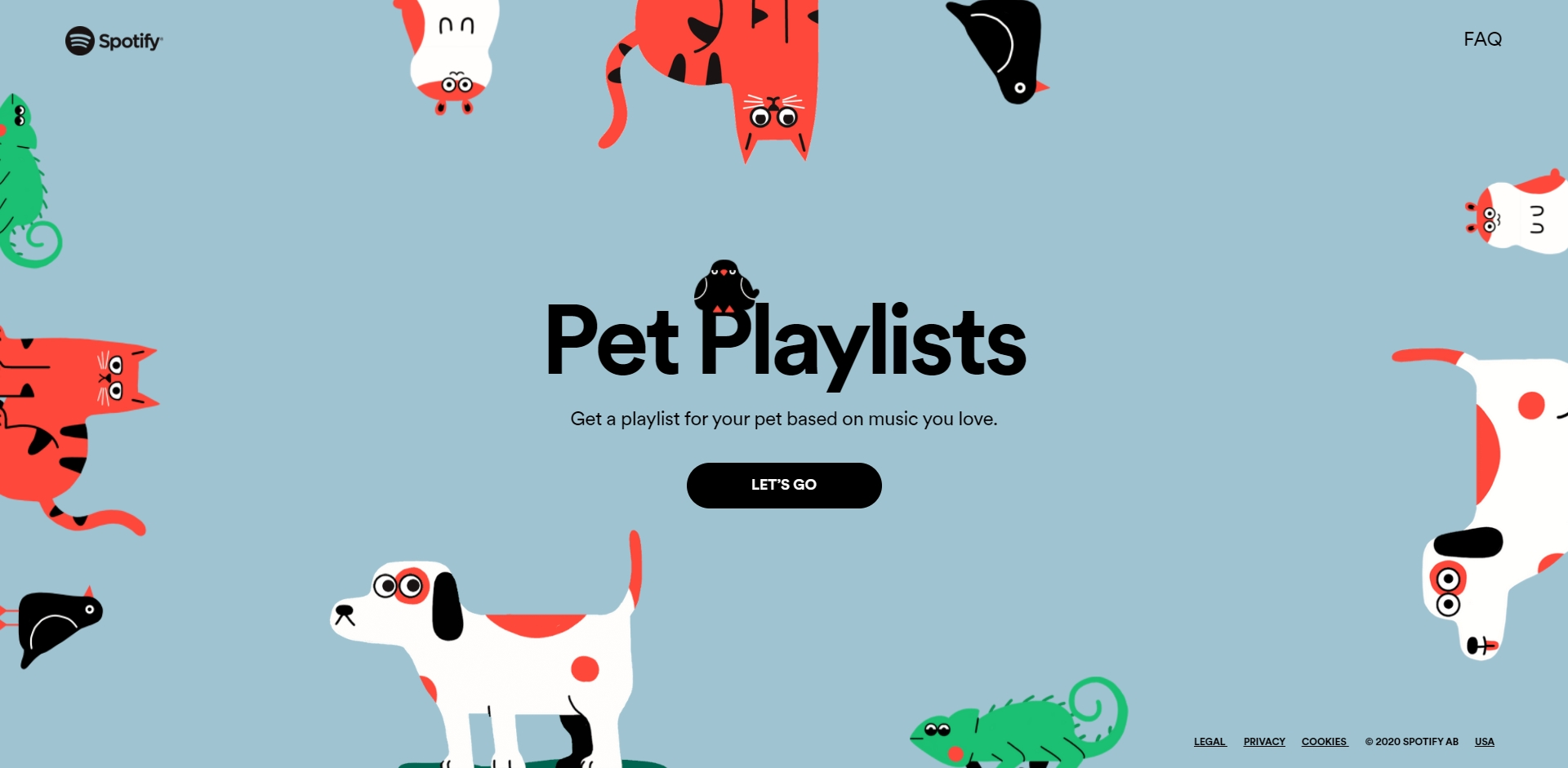 playlist spotify animais