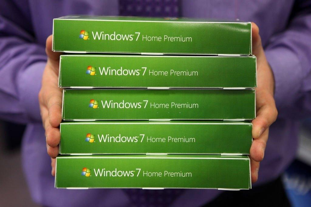 Windows 7 sistema em caixas