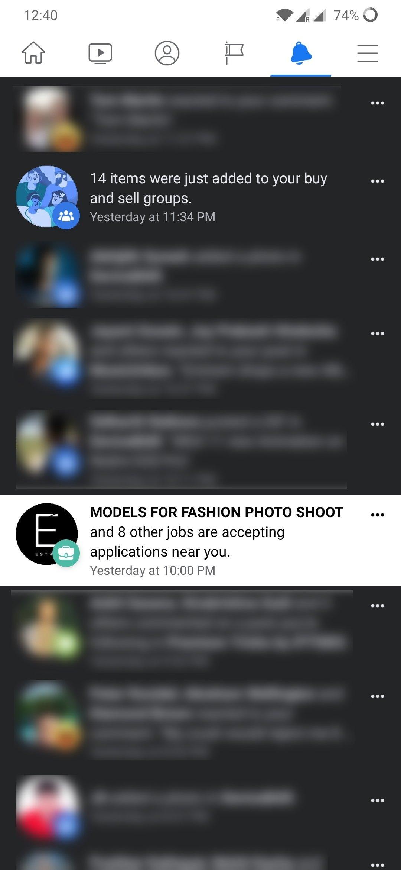 exemplo erro dark mode facebook