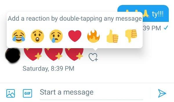 emojis reações