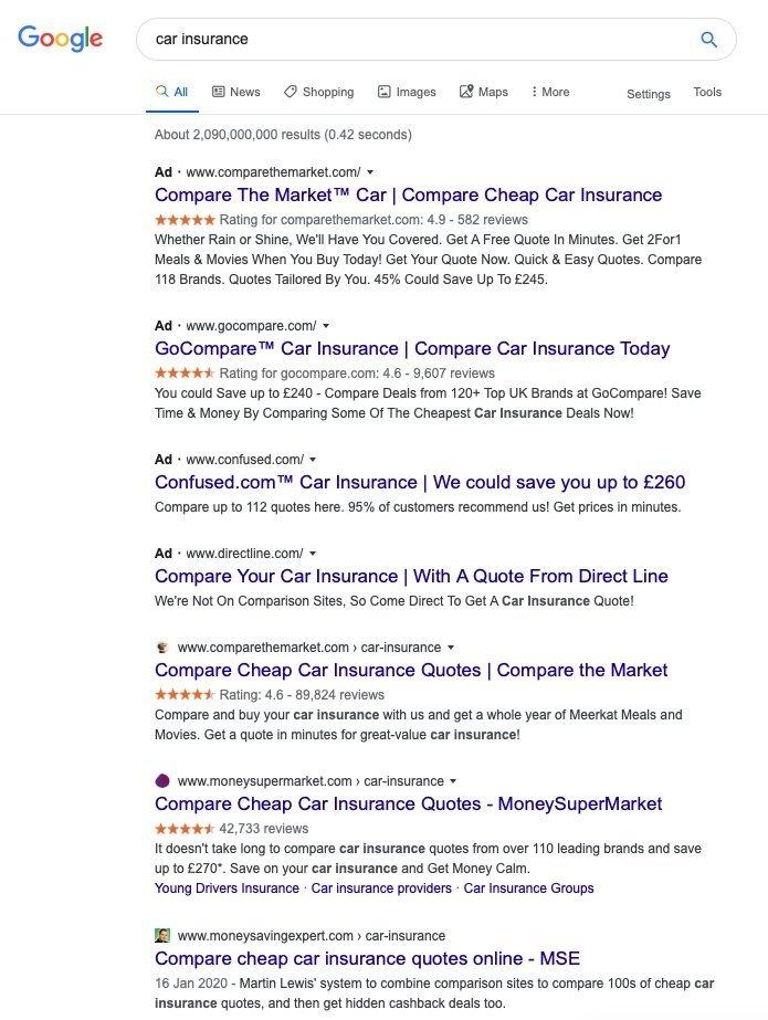 resultados pesquisa google