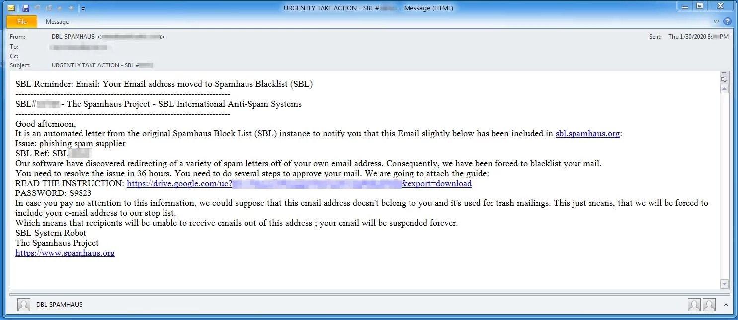 exemplo email malicioso