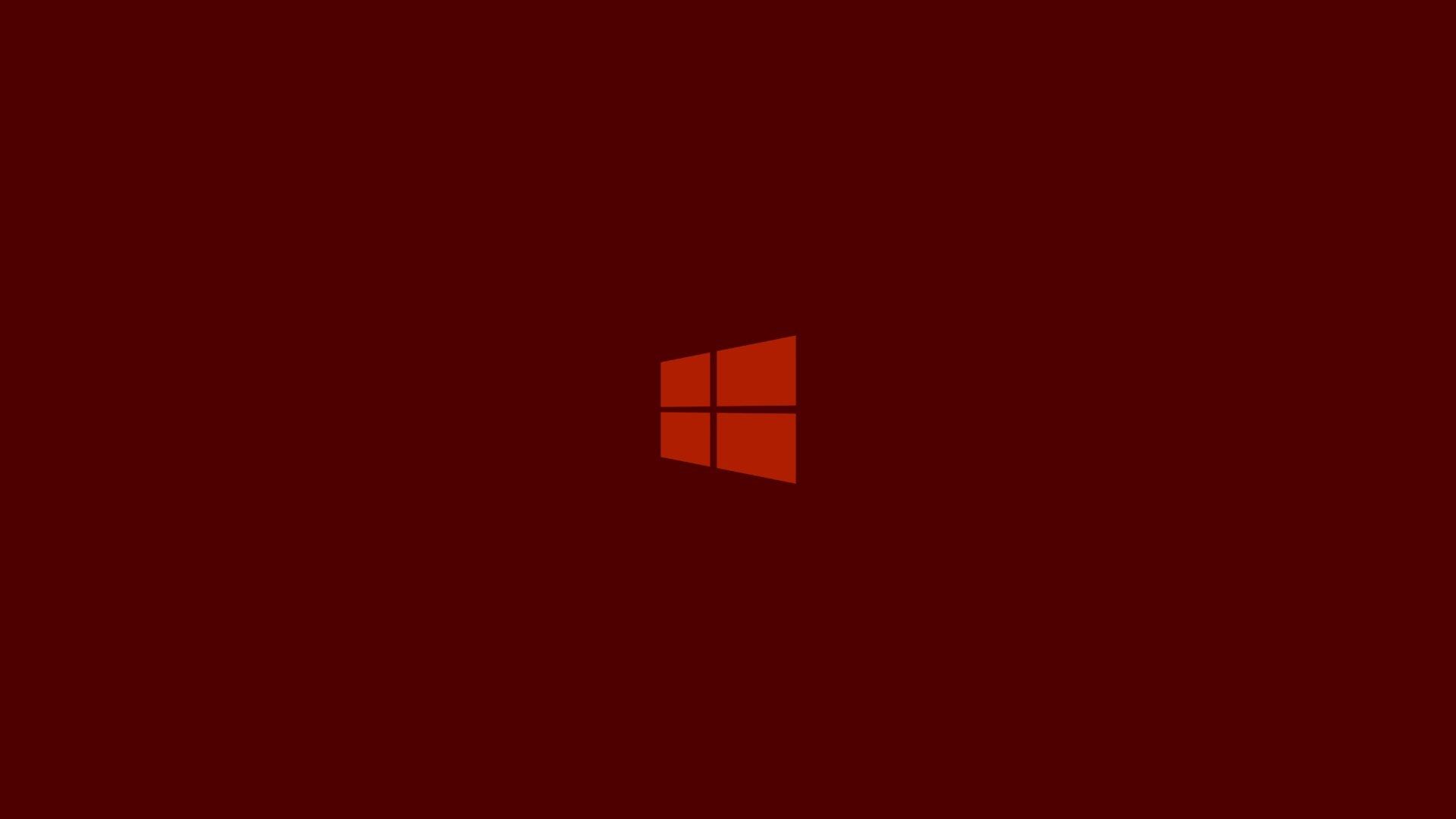 Windows 10 wallpaper em vermelho