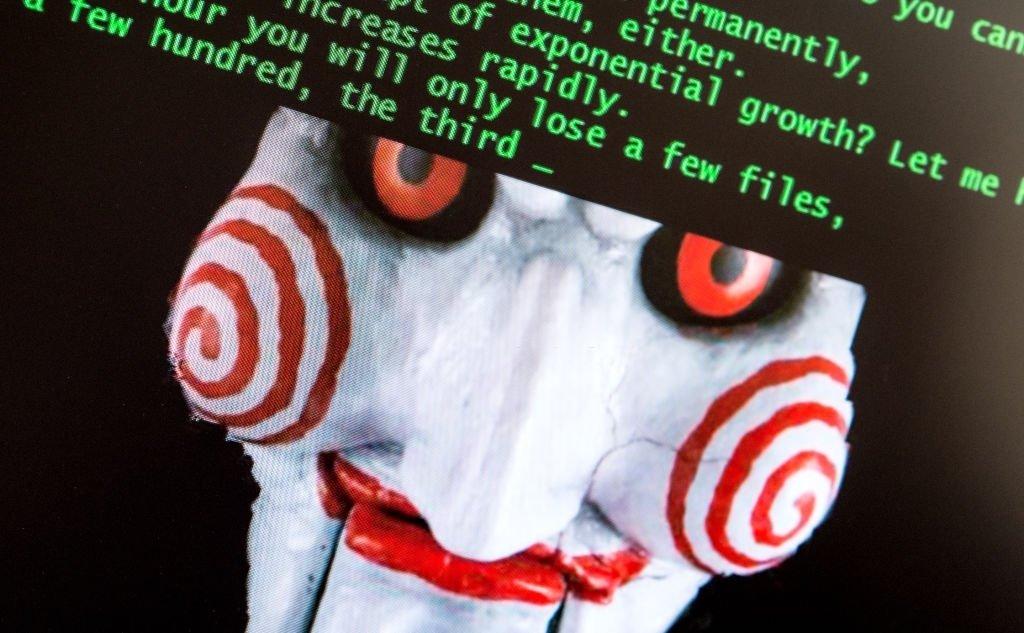 Jigsaw e ataque de ransomware num computador