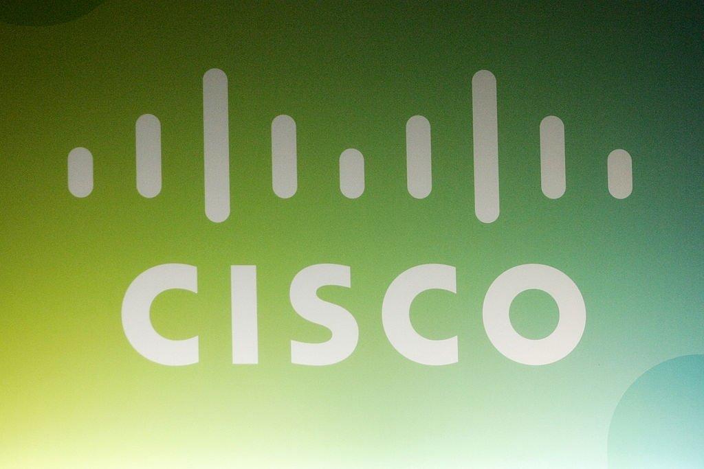 Cisco logo na parede