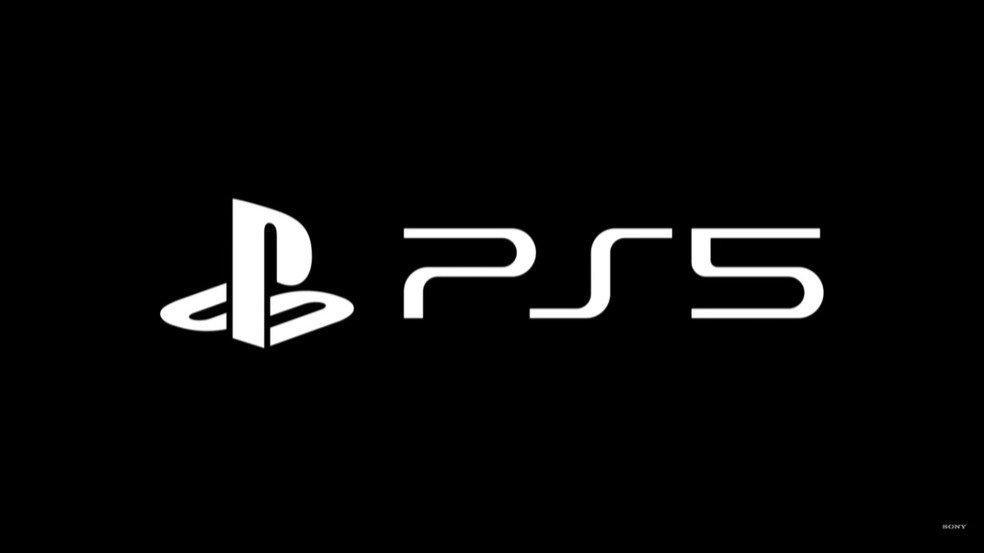 PlayStation 5 logo sobre fundo preto