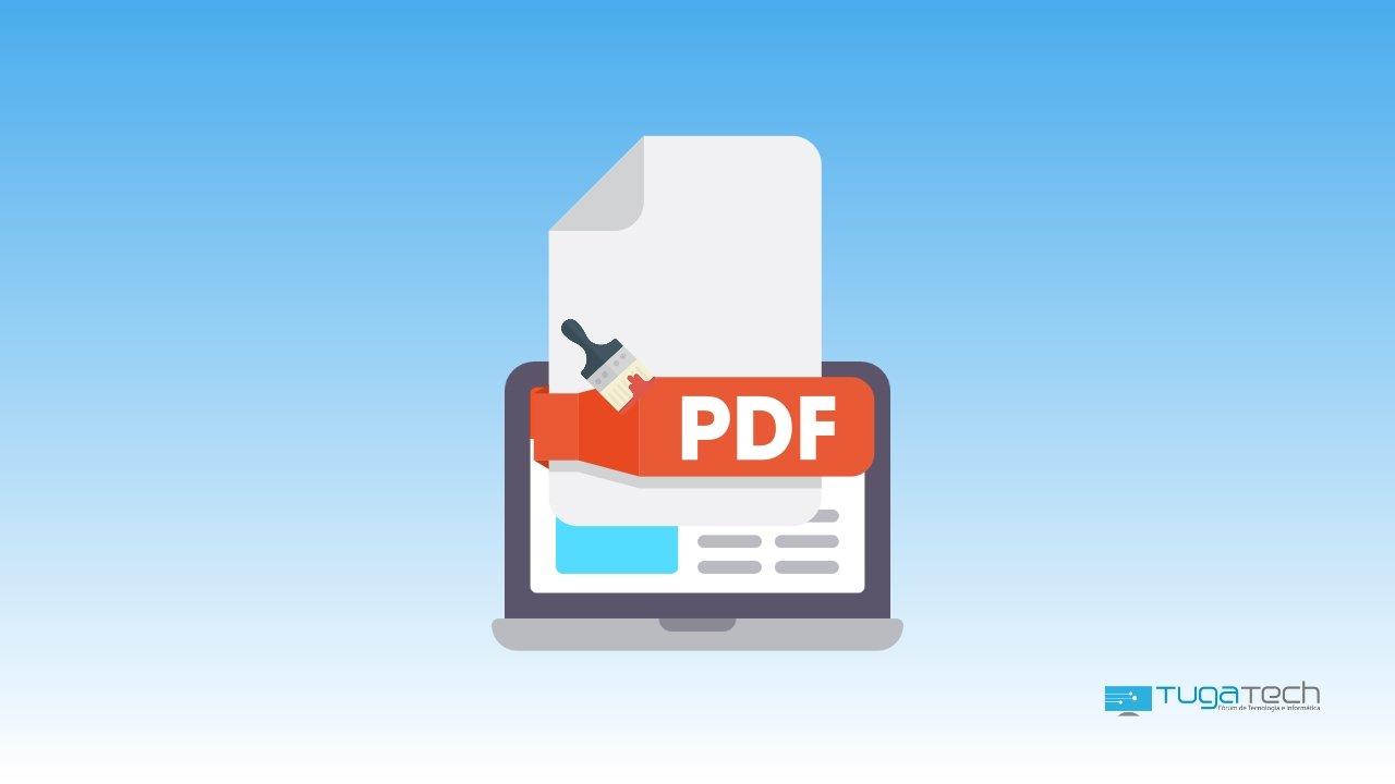 Ficheiro pdf em computador