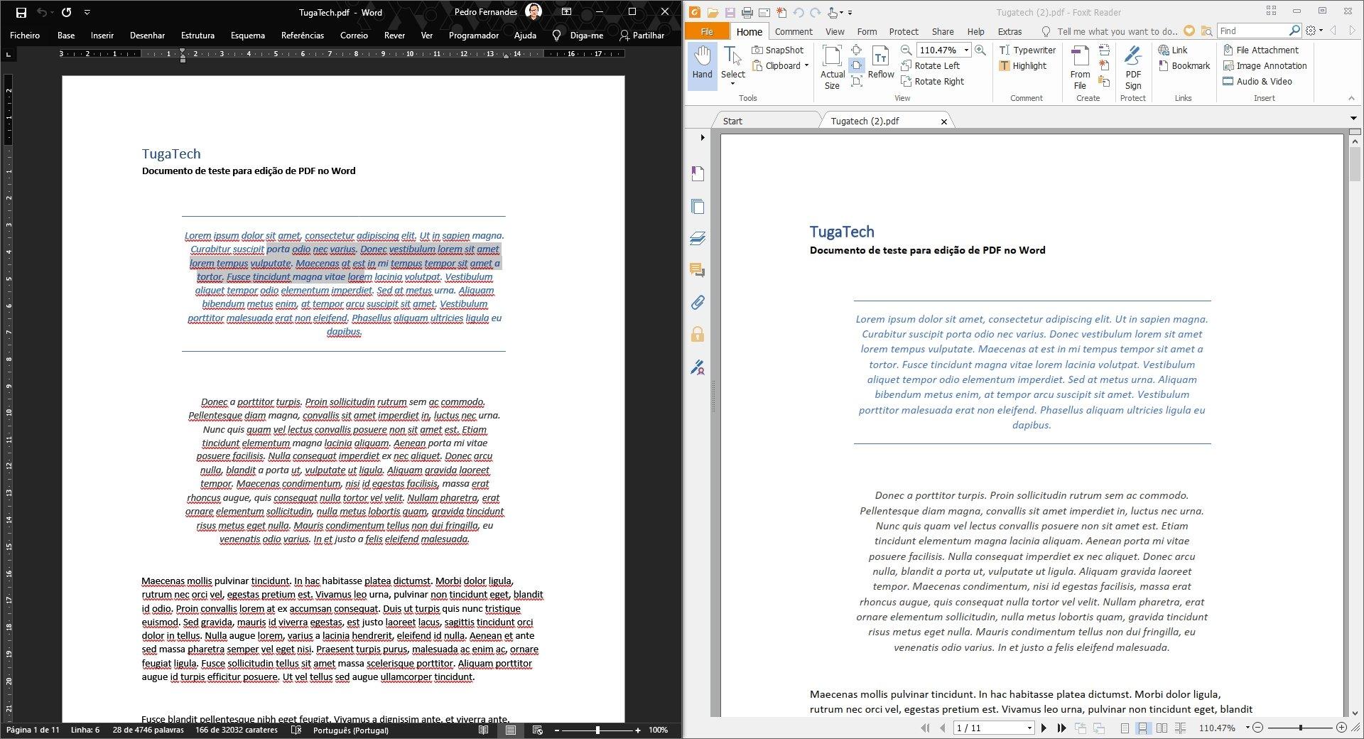 converter em PDF via o Word