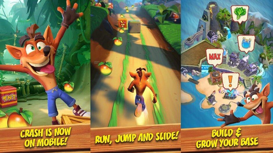 imagens do jogo de Crash Bandicoot