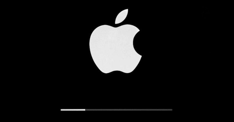 Apple logo em carregamento