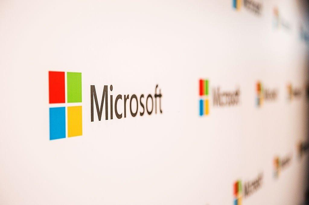 Microsoft sobre parede