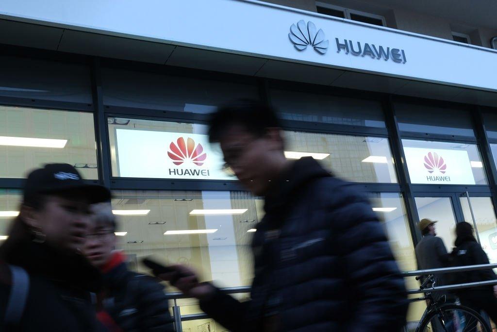 Huawei e loja da empresa na china