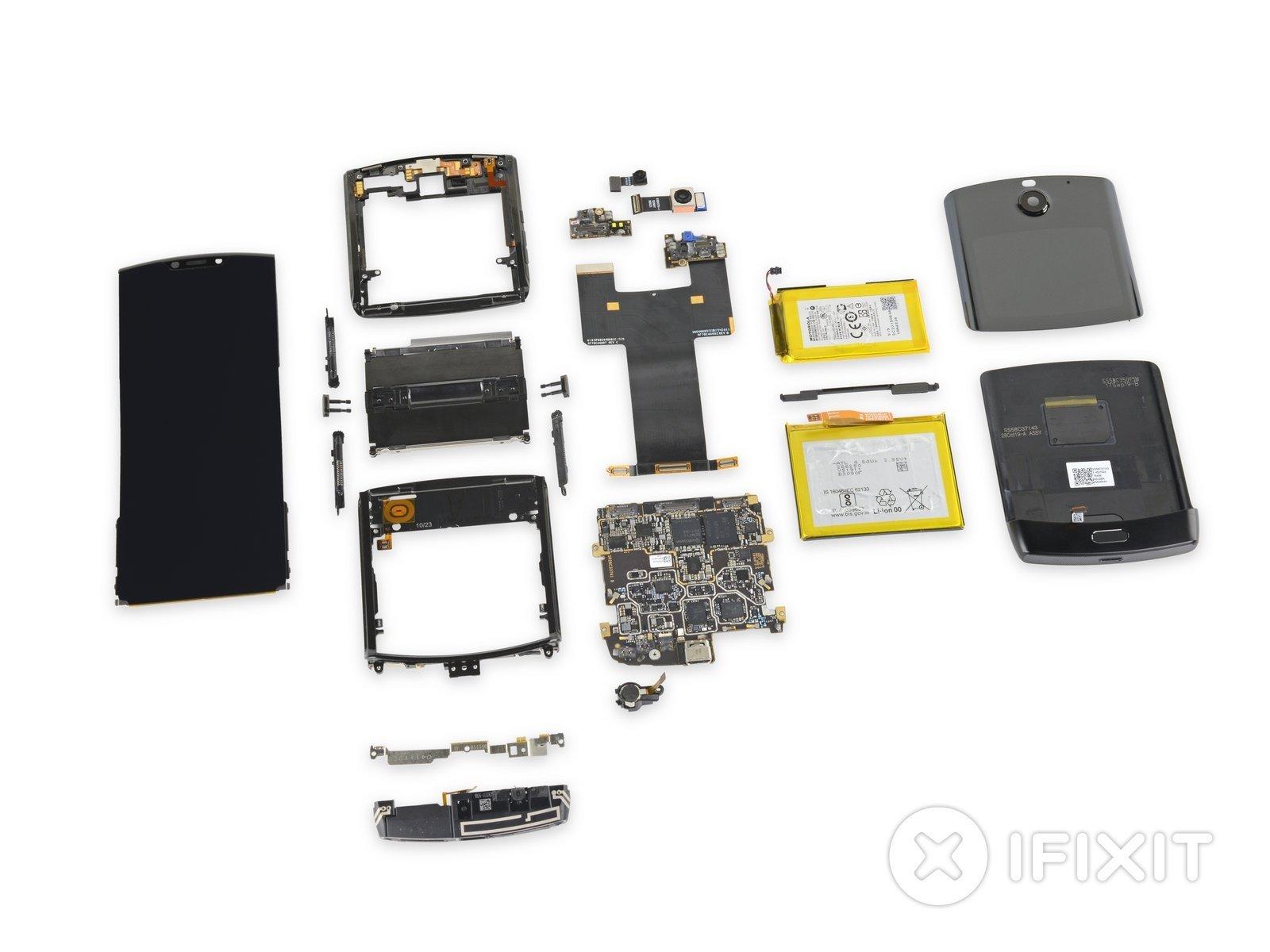Motorola razr desmontado