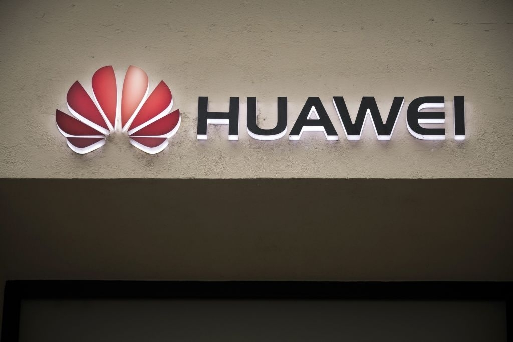 Huawei na parede