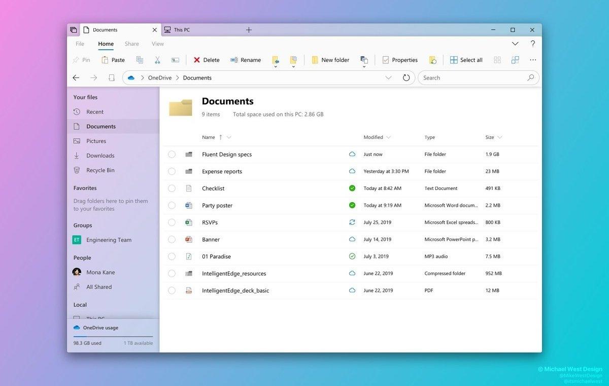 Windows explorador de ficheiros
