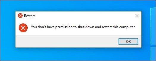 exemplo de falha no encerramento