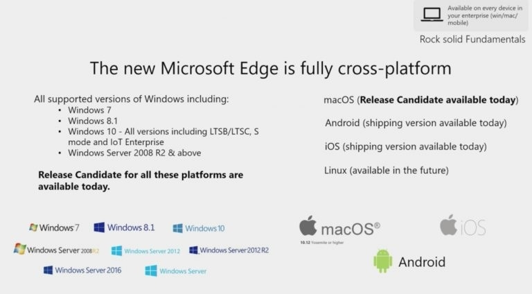 disponibilidade do Edge no Linux